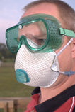 Respirator & safety goggles Royalty Free Stock Photos