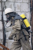 respirator strażaka Zdjęcia Stock