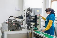 Respiratordesign och tillverkande fabrik royaltyfri foto