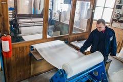 Respiratordesign och tillverkande fabrik arkivfoto