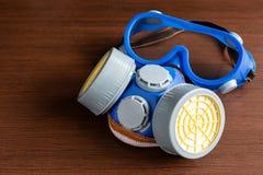 Respiratormaske, Atemschutzmaske und Sicherheitsmaske für chemisches industr lizenzfreie stockfotos