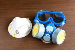 Respiratormaske, Atemschutzmaske und Sicherheitsmaske für chemisches industr lizenzfreies stockfoto