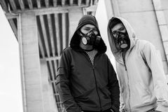 In respirators Stock Photography