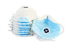 Respirators disposable Stock Photo