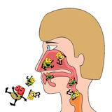 Respiratory infections Royalty Free Stock Image