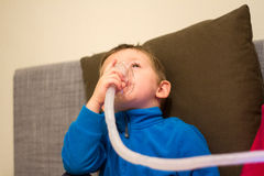 Respiratory medical treatment Stock Photo