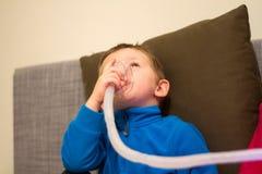Respiratory medical treatment Stock Photo