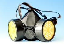 Respiratory protection. Mask on blue Stock Photo