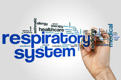 Respiratory system word cloud. Concept Stock Photos