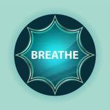 Respire el fondo azul de azul de cielo del botón del resplandor solar vidrioso mágico ilustración del vector