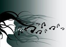 Respire a música ilustração stock