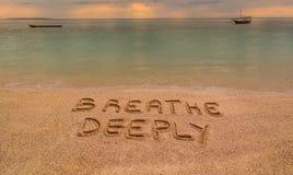 Respire profundamente Imagen de archivo libre de regalías