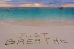 Respirez juste le signe Photo stock