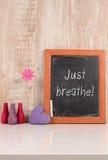 Respiri appena! immagini stock