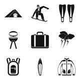 Respite icons set, simple style. Respite icons set. Simple set of 9 respite vector icons for web isolated on white background Stock Image