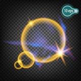 Resplandor cósmico, halo En espacio distante stock de ilustración