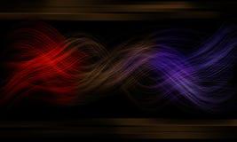 Resplandor de la fibra y fondo negro del efecto del neón Imágenes de archivo libres de regalías