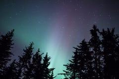 Resplandor de la luz septentrional Fotografía de archivo libre de regalías