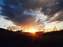 Resplandor de la puesta del sol Fotos de archivo