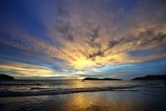 Resplandor de la puesta del sol Foto de archivo