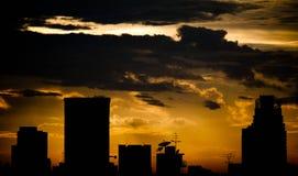 Resplandor de la puesta del sol Imágenes de archivo libres de regalías
