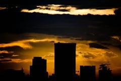Resplandor de la puesta del sol Fotografía de archivo