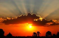 Resplandor de la puesta del sol fotografía de archivo libre de regalías