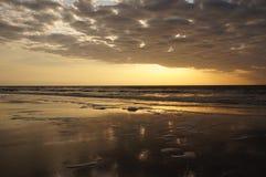 Resplandor de la salida del sol en Hilton Head Imágenes de archivo libres de regalías