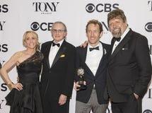 Resplandor de los productores de Hamilton en 70.o Tony Awards Imágenes de archivo libres de regalías