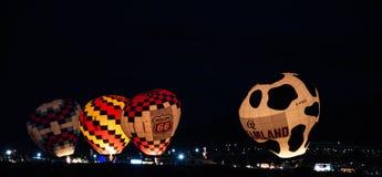 Resplandor de tarde de la fiesta del globo de Albuquerque 2015 Fotos de archivo
