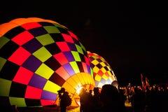 Resplandor de tarde de la fiesta del globo de Albuquerque 2015 Foto de archivo libre de regalías