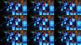 Resplandor decorativo de las linternas con diversos colores almacen de video
