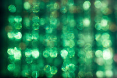 Resplandor Defocused del sol con el verde abstracto de Plexiglás Foto de archivo libre de regalías