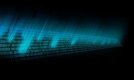 Resplandor del código binario