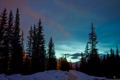 Resplandor del cielo nocturno Foto de archivo libre de regalías