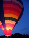 Resplandor del globo del aire caliente Fotografía de archivo