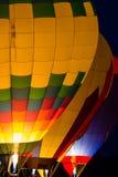 Resplandor del globo del aire caliente Imagen de archivo