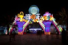 Resplandor del jardín de Dubai Fotografía de archivo