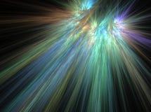 Resplandor divina del fondo de la luz del efecto del fractal del extracto del cielo Foto de archivo