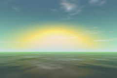 Resplandor grande del sol Fotografía de archivo