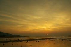 Resplandor magnífico de la puesta del sol Fotos de archivo
