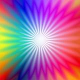 Resplandor radial del arco iris stock de ilustración