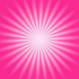 Resplandor radial rosado Imágenes de archivo libres de regalías