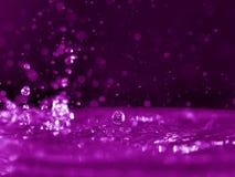 Resplandor rosado del agua fotos de archivo