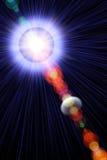 Resplandor solar abstracto ilustración del vector