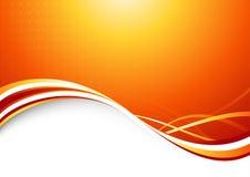 Resplandor solar anaranjado - fondo futurista abstracto libre illustration