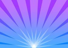 Resplandor solar azul y púrpura del radiante del fondo Imagen de archivo libre de regalías