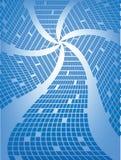 Resplandor solar cuadrado azul Imagenes de archivo