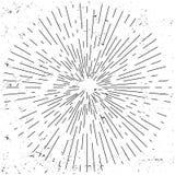 Resplandor solar del vintage en fondo de la textura del grunge Ilustración drenada mano del vector Imagen de archivo libre de regalías