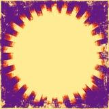 Resplandor solar retro Grunge stock de ilustración